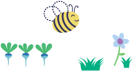 Piccalilly Busy Bee Footer Image